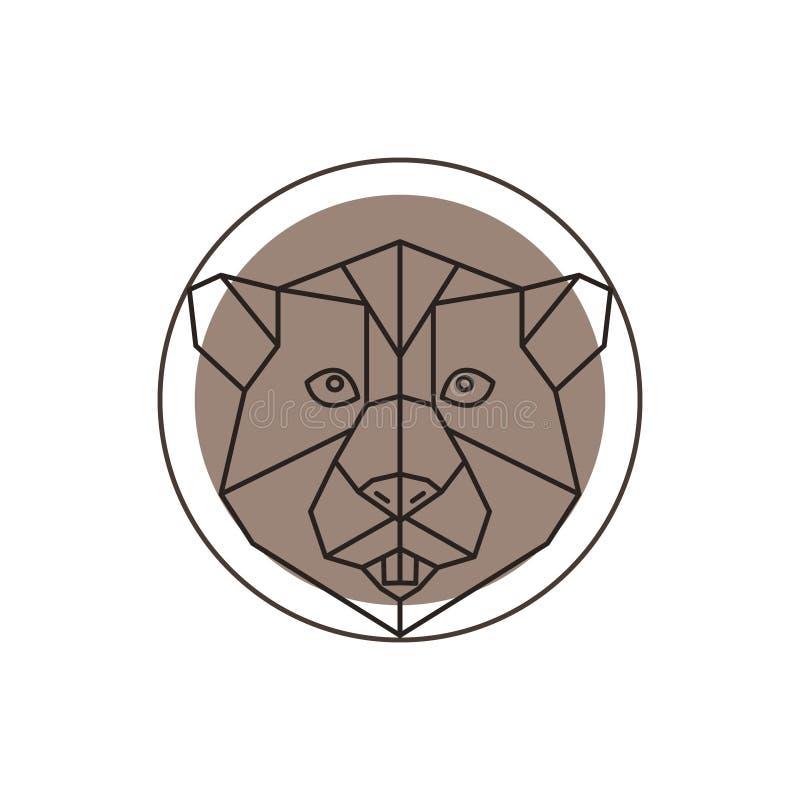 Icono geométrico del castor libre illustration