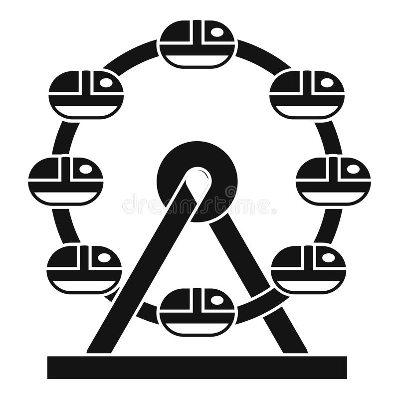 Icono gigante de la noria, estilo simple libre illustration