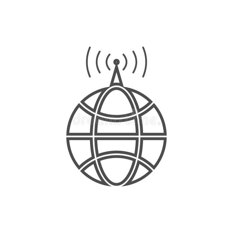 icono global de la antena de radio Elemento de la seguridad cibernética para el concepto y el icono móviles de los apps de la web libre illustration