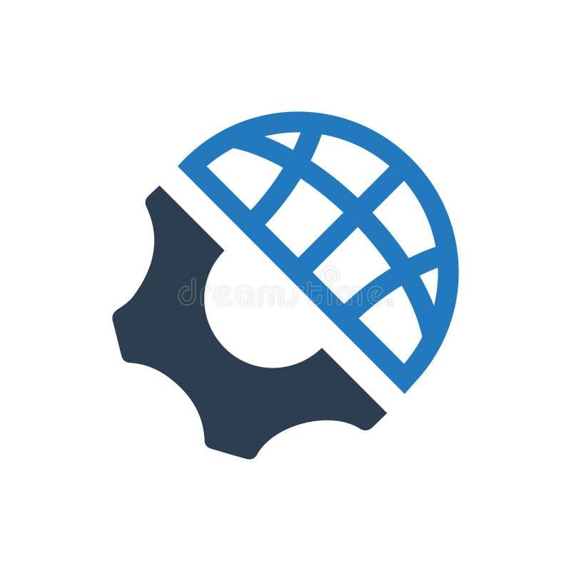 Icono global de la ingeniería stock de ilustración