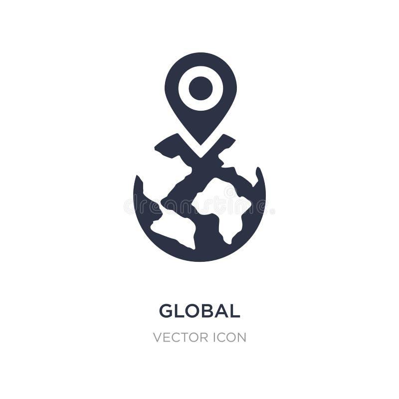 icono global de la localización en el fondo blanco Ejemplo simple del elemento del concepto del establecimiento de una red libre illustration