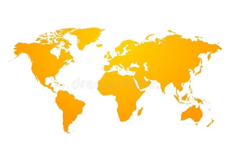 Icono global de la tierra del mapa del mundo del vector América, Asia, Australia, África, los E.E.U.U. Diseño moderno abstracto d ilustración del vector