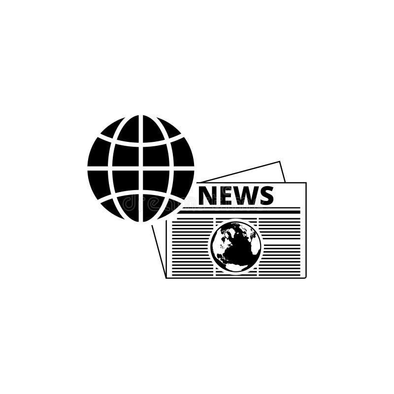 Icono global de las noticias, logotipo de las noticias de mundo ilustración del vector