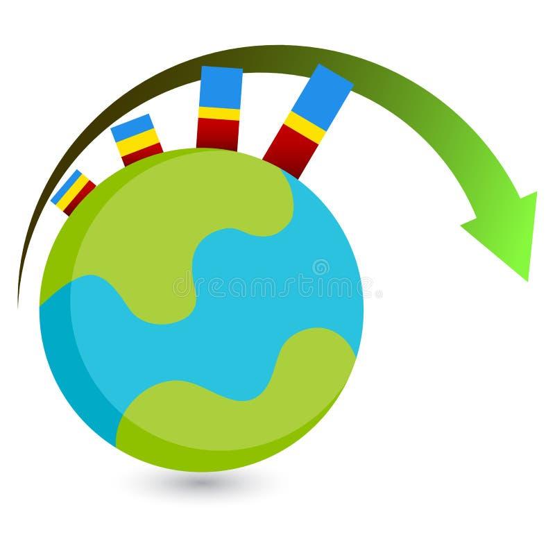 Icono global del crecimiento ilustración del vector