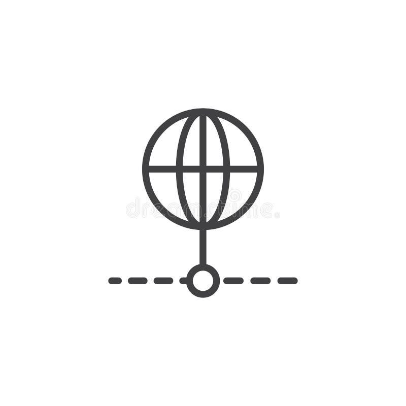 Icono global del esquema de la conexión ilustración del vector