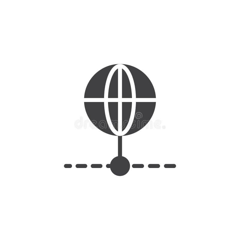 Icono global del vector de la conexión ilustración del vector