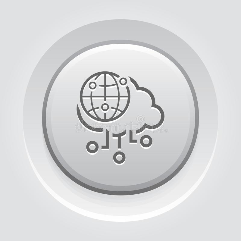 Icono global simple del vector del acceso ilustración del vector