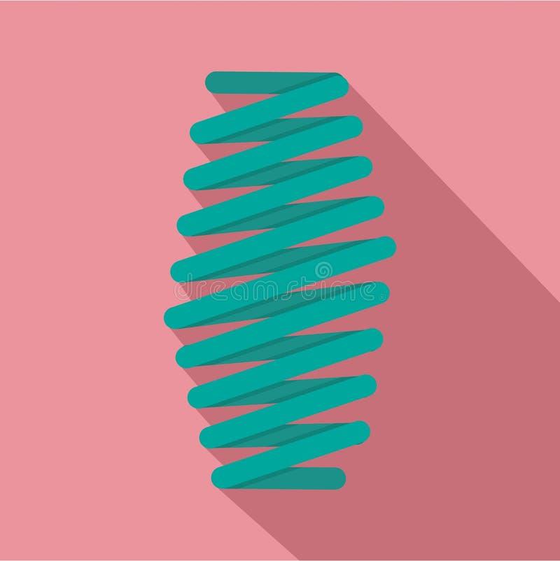 Icono gordo de la bobina de la primavera, estilo plano libre illustration