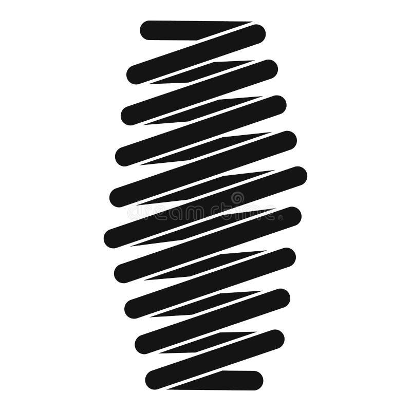 Icono gordo de la bobina de la primavera, estilo simple stock de ilustración
