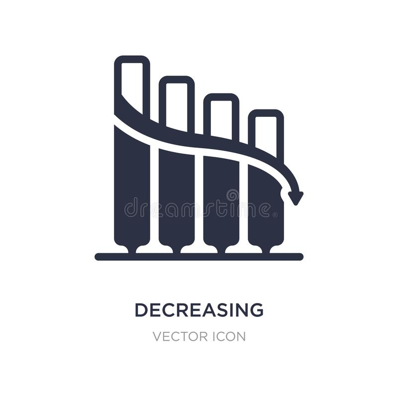 icono gráfico de disminución de las barras de la acción en el fondo blanco Ejemplo simple del elemento del concepto del negocio libre illustration