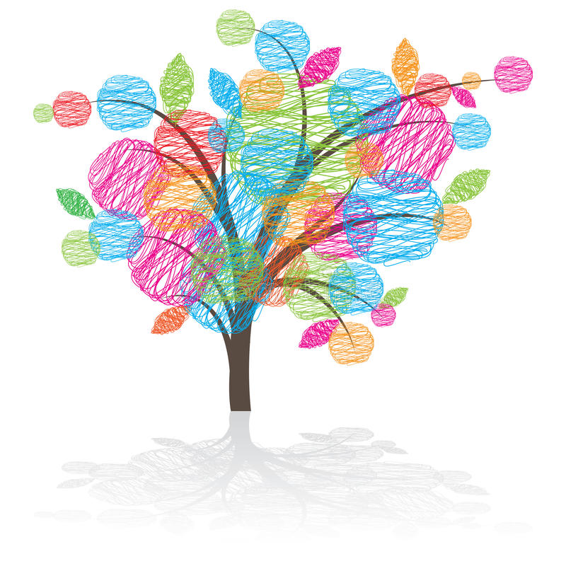 Icono gráfico del árbol stock de ilustración