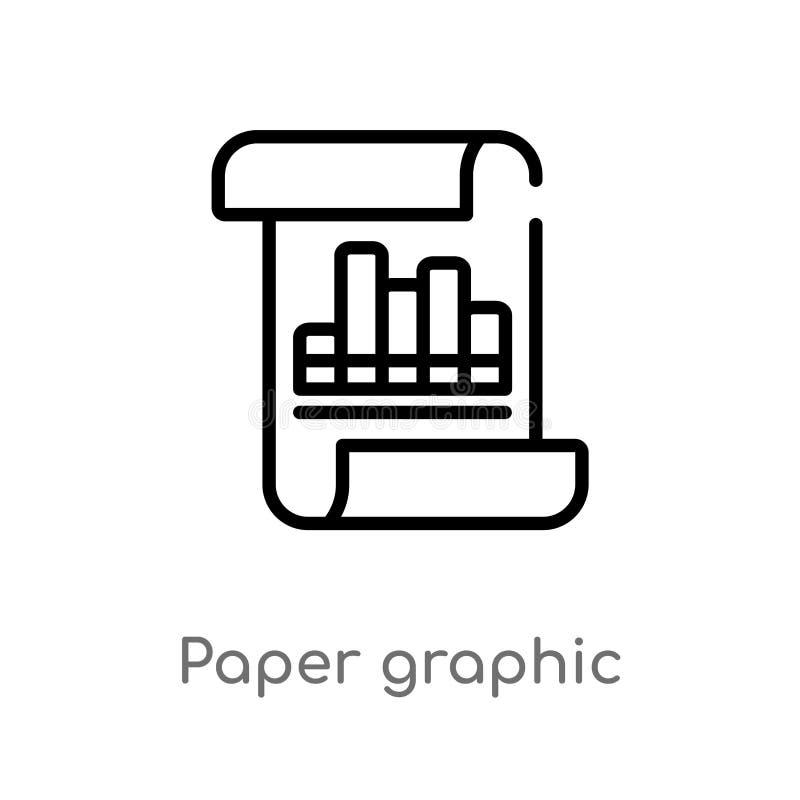 icono gráfico del vector del papel de esquema línea simple negra aislada ejemplo del elemento del concepto del negocio Movimiento libre illustration