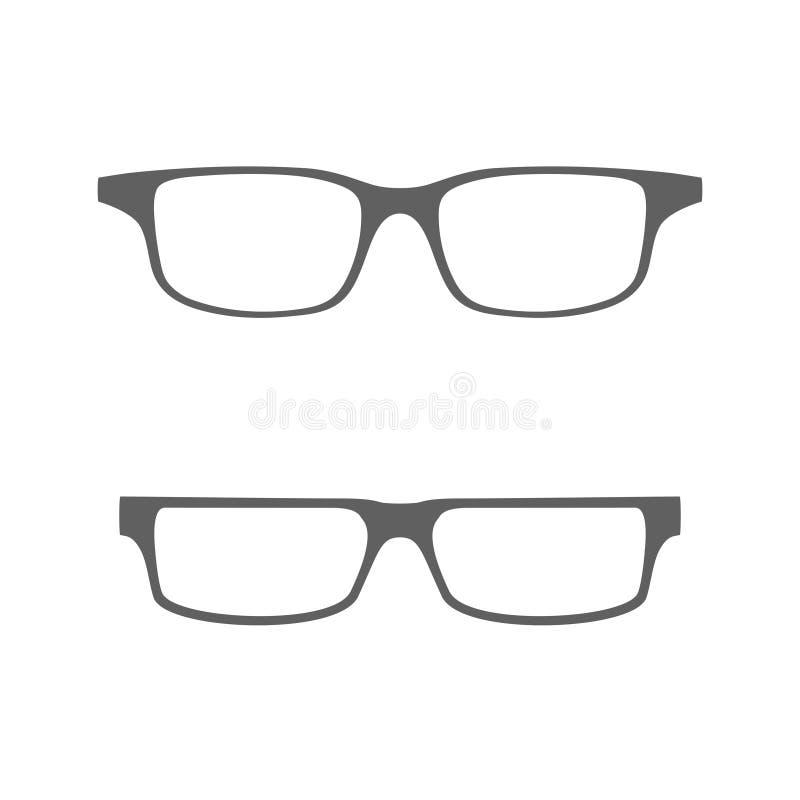 Icono gr?fico de los vidrios en dise?o plano stock de ilustración