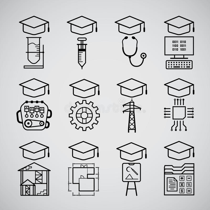 Icono graduado libre illustration