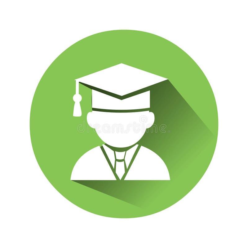 Icono graduado del casquillo Vector del icono de la educación libre illustration