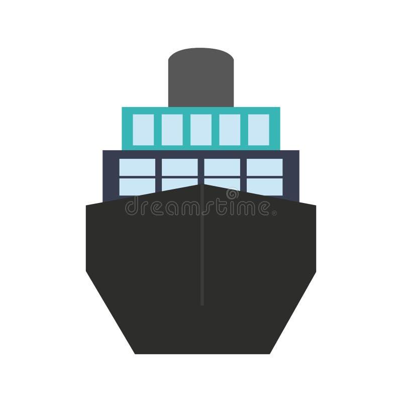 Icono grande de la nave libre illustration