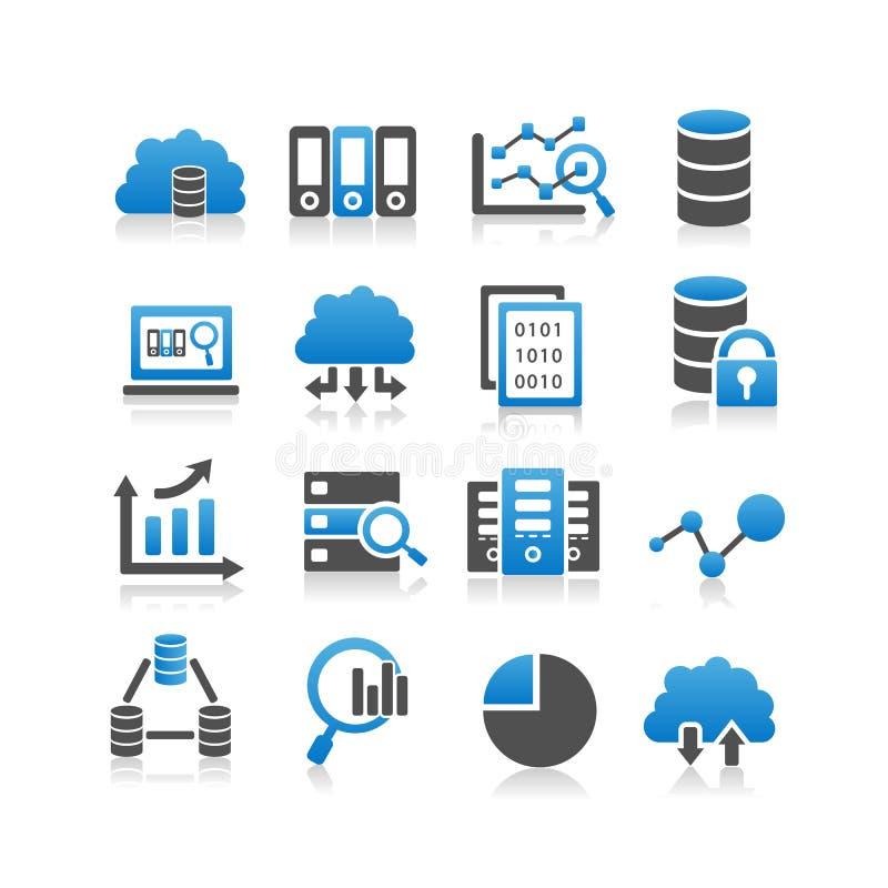 Icono grande de los datos stock de ilustración