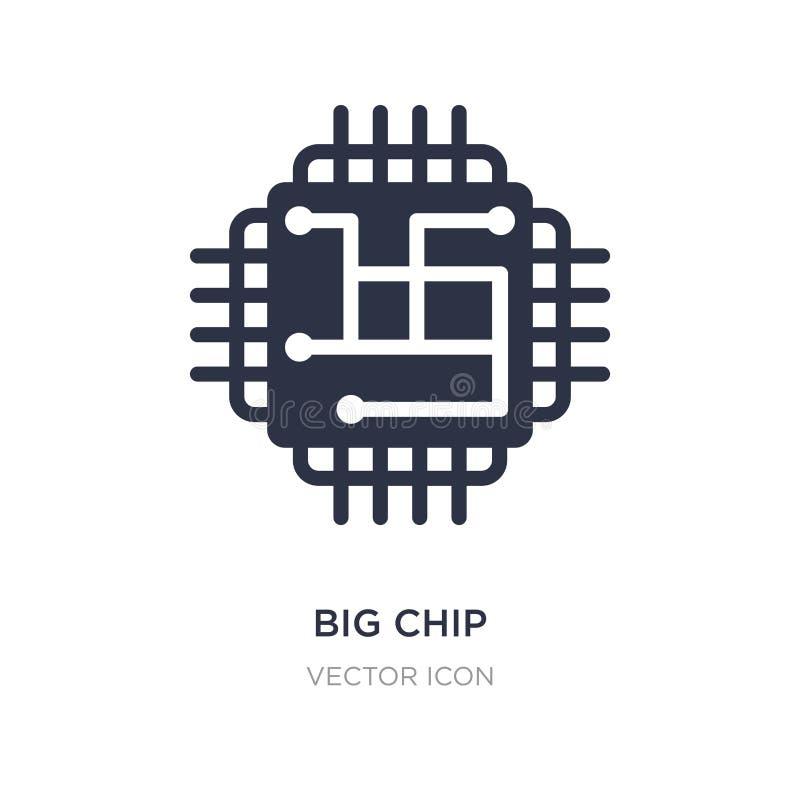 icono grande del microprocesador en el fondo blanco Ejemplo simple del elemento del concepto de la tecnología ilustración del vector