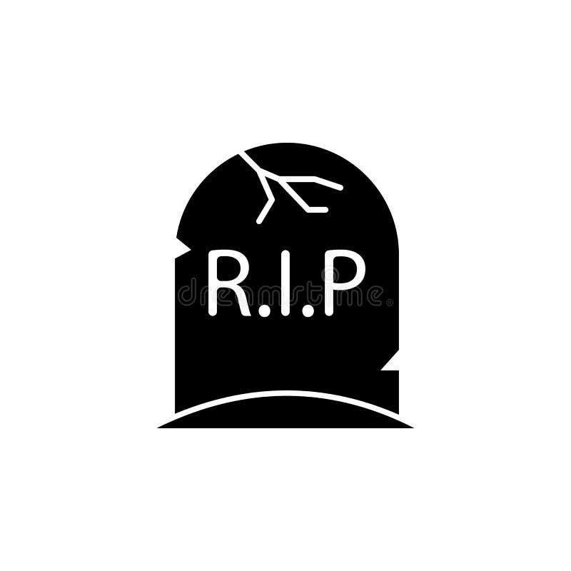 Icono grave Elemento del ejemplo de los elementos del fantasma Línea ejemplo fina para el diseño y el desarrollo, desarrollo del  stock de ilustración