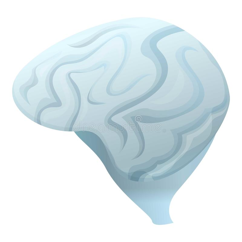 Icono gris del cerebro, estilo de la historieta libre illustration
