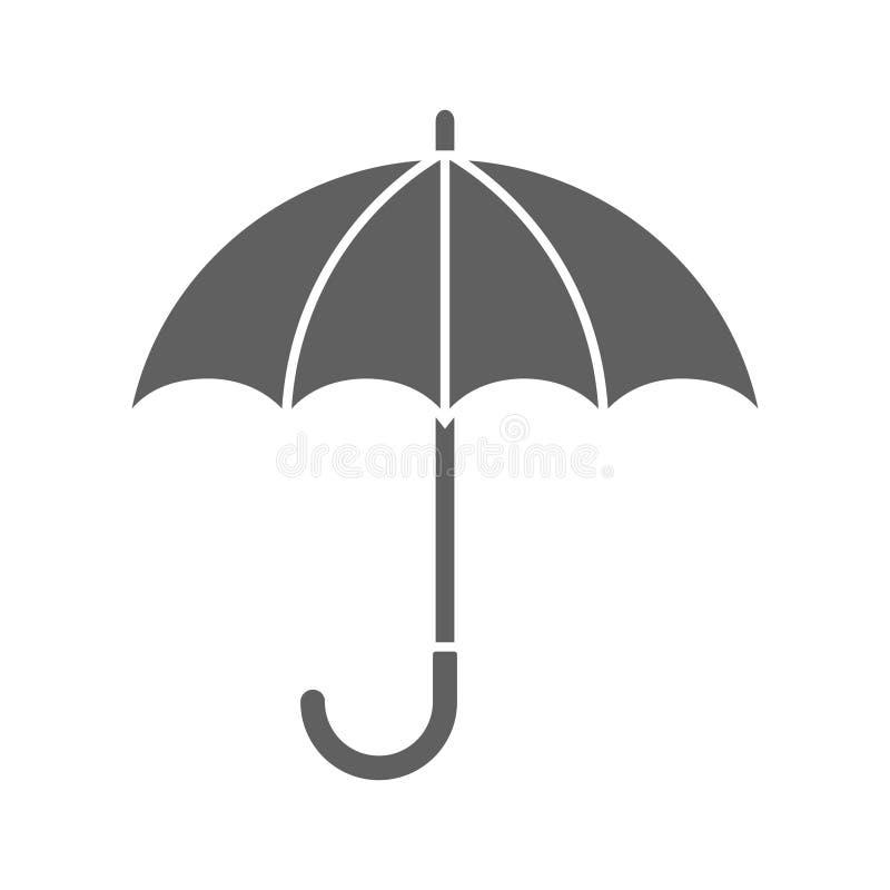 Icono gris gráfico del paraguas ilustración del vector