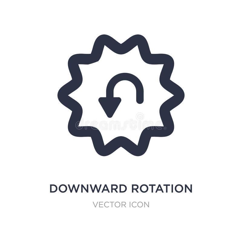 icono hacia abajo de la rotación en el fondo blanco Ejemplo simple del elemento del concepto de UI stock de ilustración