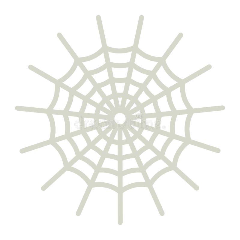 Icono, Halloween y asustadizos planos del web de araña, libre illustration