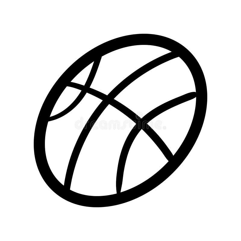 Icono Handdrawn del garabato de la bola Bosquejo negro dibujado mano s?mbolo de la muestra Elemento de la decoraci?n Fondo blanco stock de ilustración