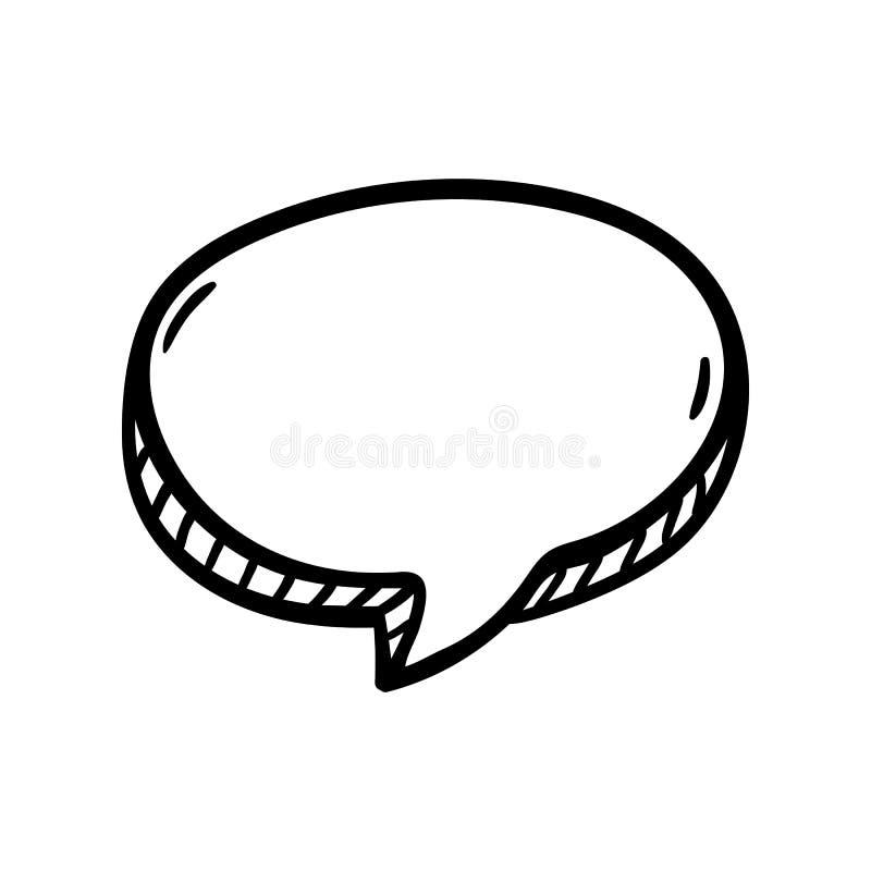 Icono Handdrawn del garabato de la nube Bosquejo negro dibujado mano s?mbolo de la muestra Elemento de la decoraci?n Fondo blanco libre illustration