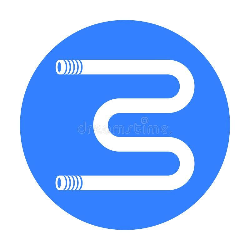 Icono heated del carril de toalla en estilo negro aislado en el fondo blanco Ejemplo del vector de la acción del símbolo de la fo stock de ilustración