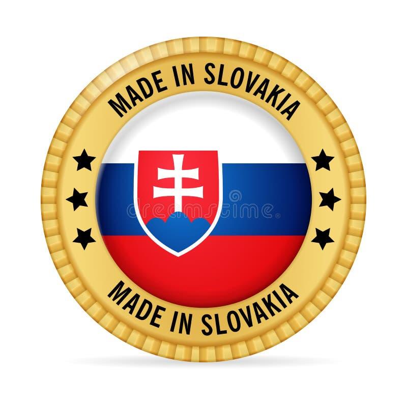 Icono hecho en Eslovaquia stock de ilustración