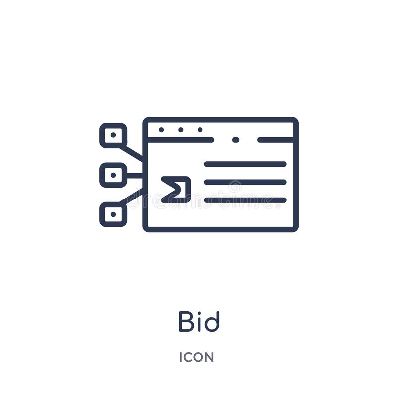 Icono hecho una oferta linear de la colección del esquema del márketing Línea fina icono de la oferta aislado en el fondo blanco  ilustración del vector