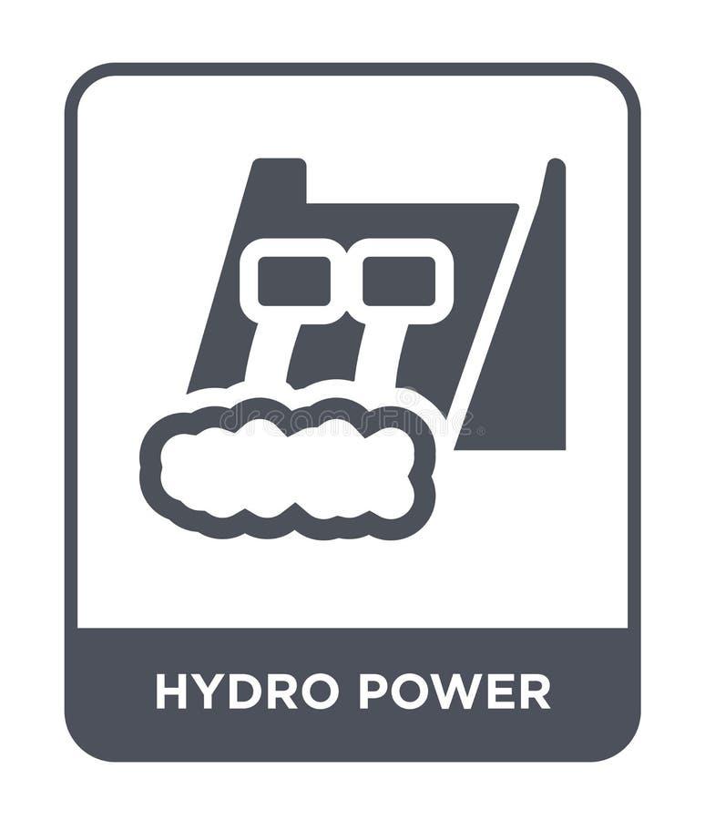 icono hidráulico del poder en estilo de moda del diseño icono hidráulico del poder aislado en el fondo blanco icono hidráulico de libre illustration