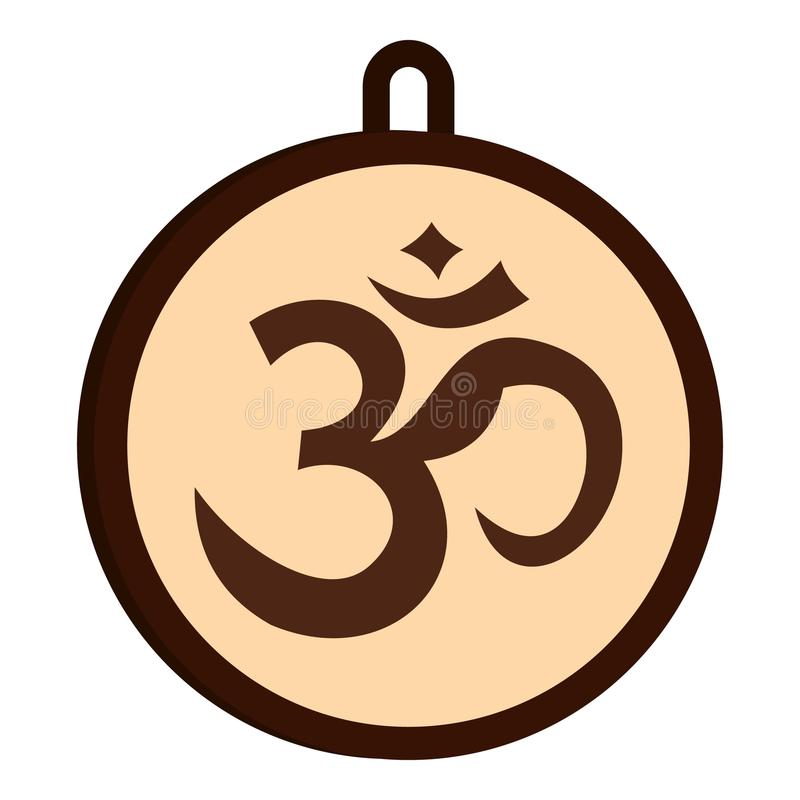 Icono hindú del símbolo de OM aislado stock de ilustración
