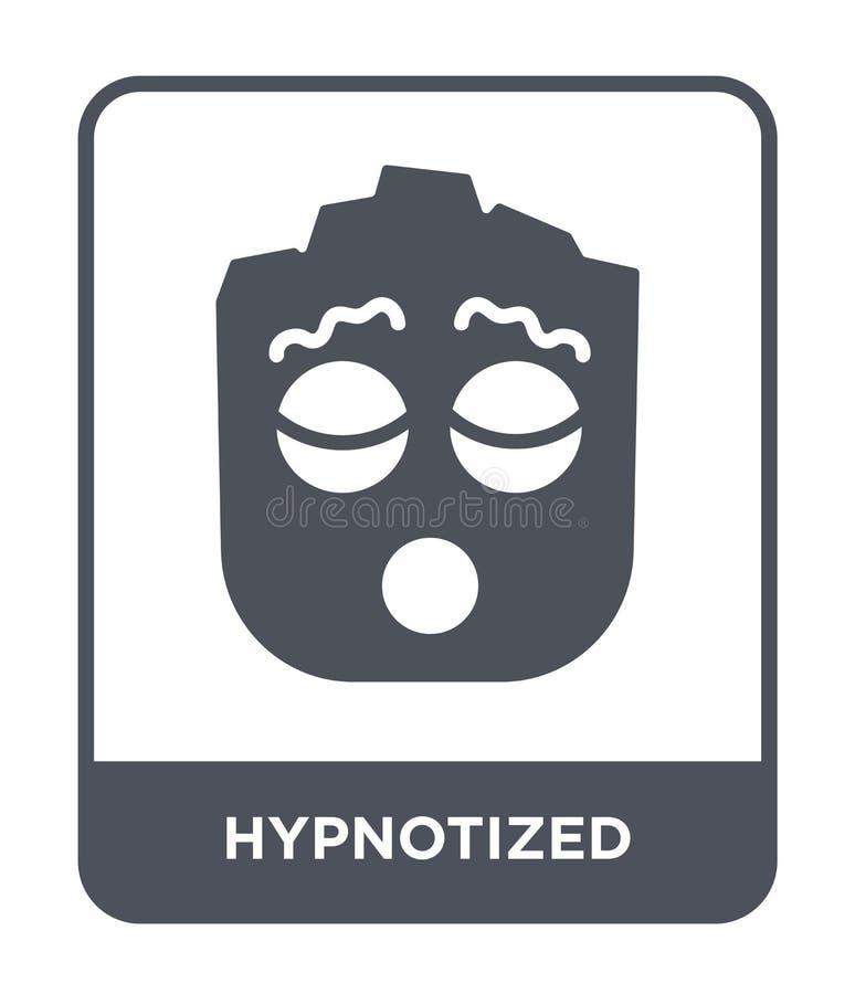 icono hipnotizado en estilo de moda del diseño Icono hipnotizado aislado en el fondo blanco icono hipnotizado del vector simple y stock de ilustración