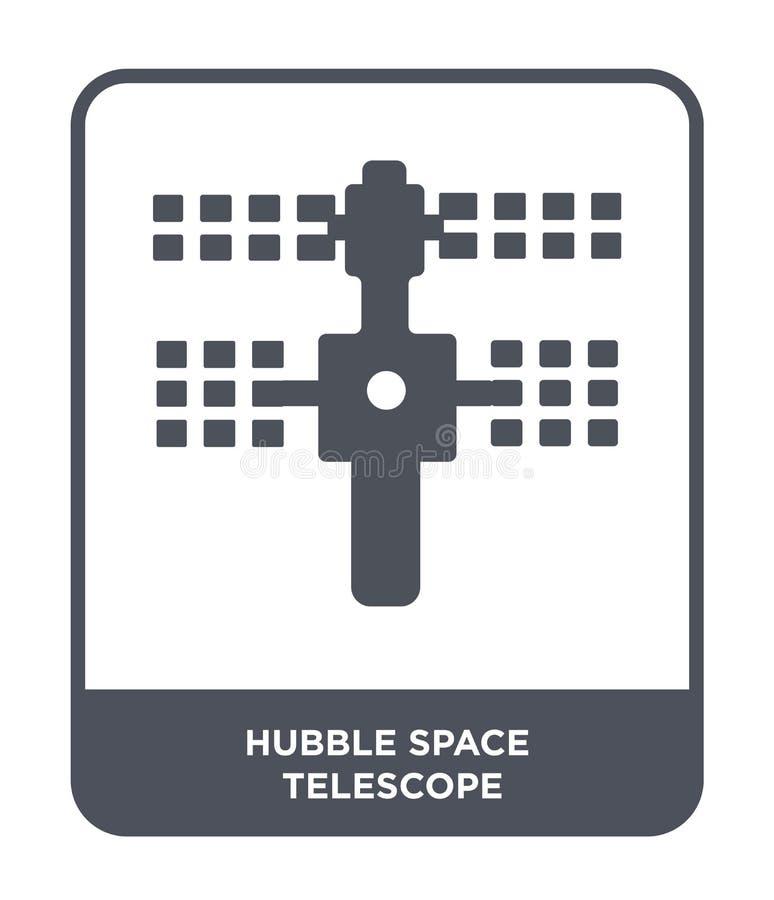 icono hubble del telescopio espacial en estilo de moda del diseño icono hubble del telescopio espacial aislado en el fondo blanco ilustración del vector