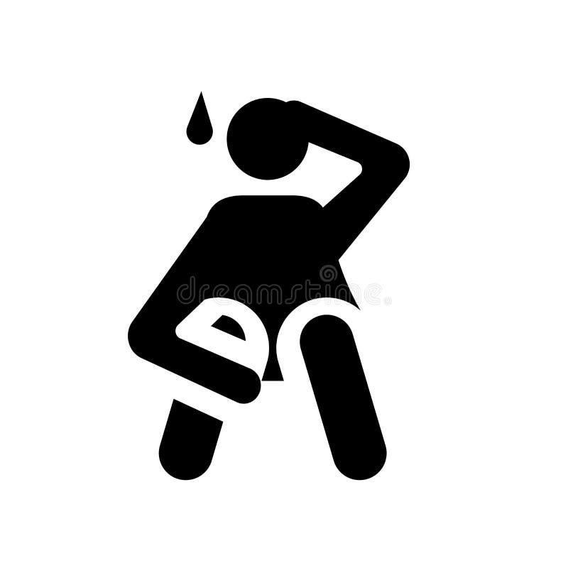 icono humano ansioso Concepto humano ansioso de moda del logotipo en b blanco libre illustration