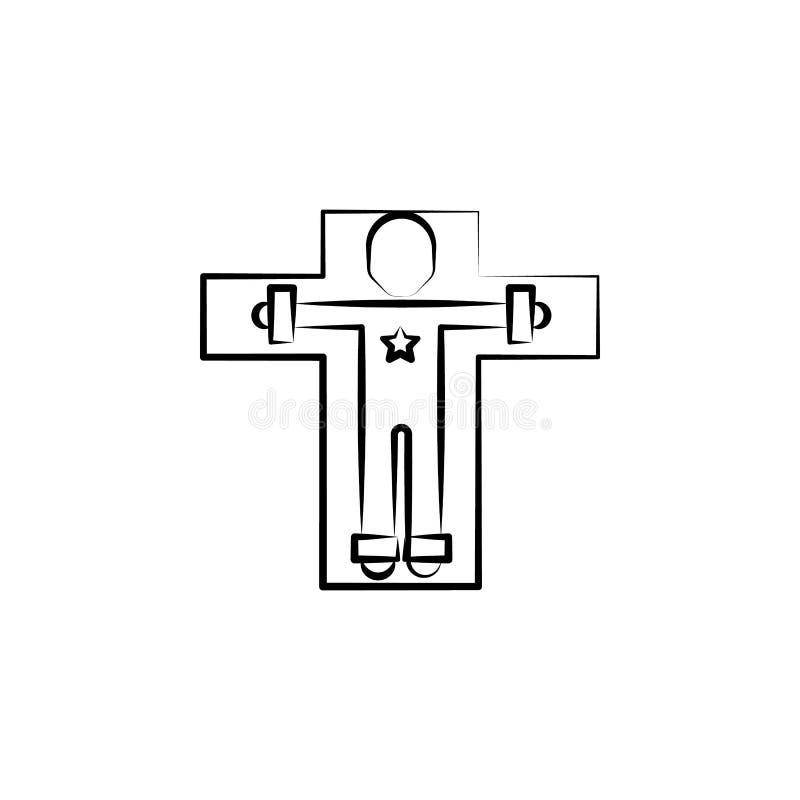 Icono humano de la disección Elemento del icono enojado de la ciencia para los apps móviles del concepto y del web El icono human ilustración del vector