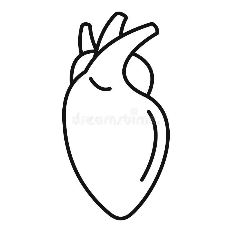 Icono humano del coraz?n, estilo del esquema libre illustration