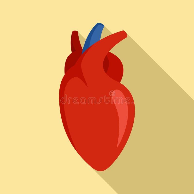 Icono humano del coraz?n, estilo plano libre illustration