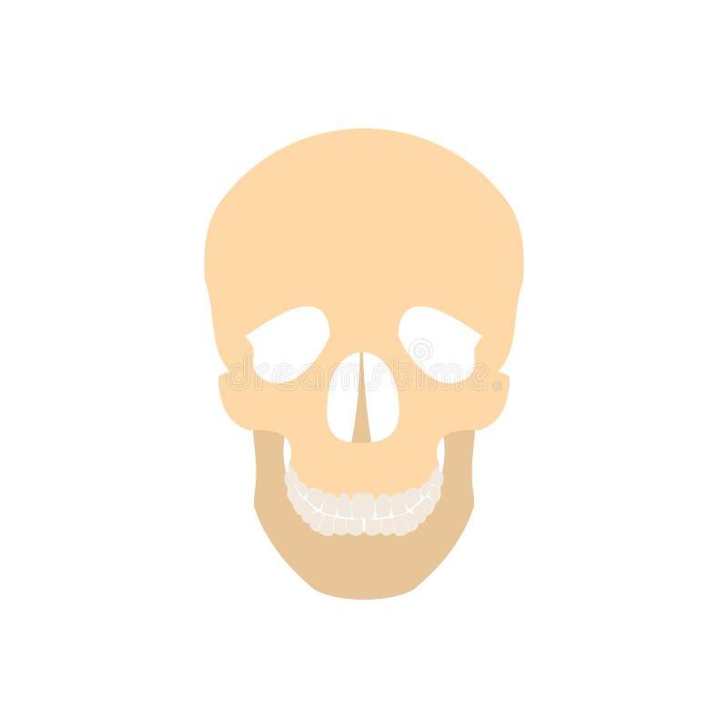 Icono humano del cráneo stock de ilustración