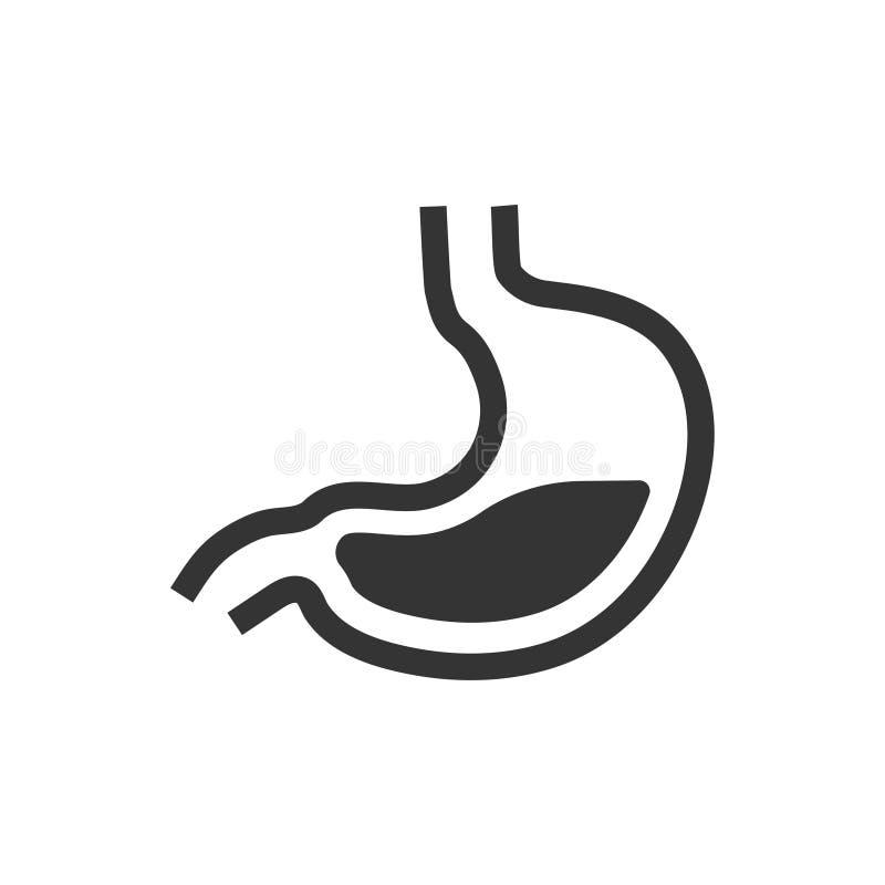 Icono humano del estómago stock de ilustración