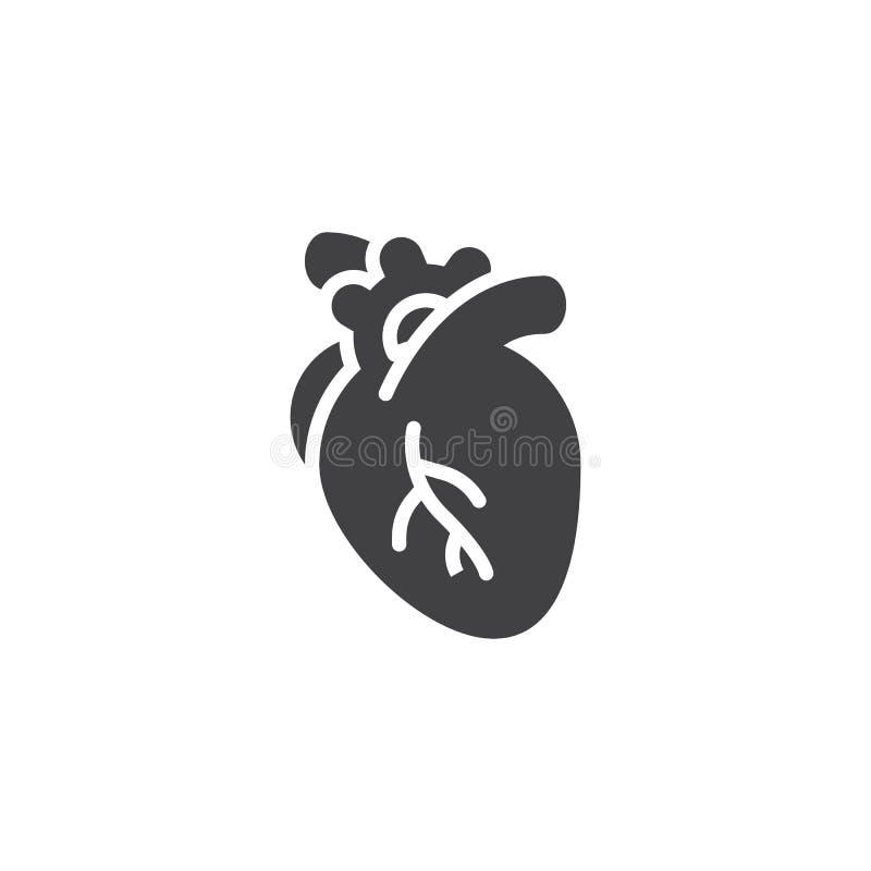 Icono humano del vector del corazón stock de ilustración
