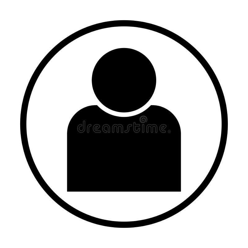 Icono humano del vector en círculo ilustración del vector