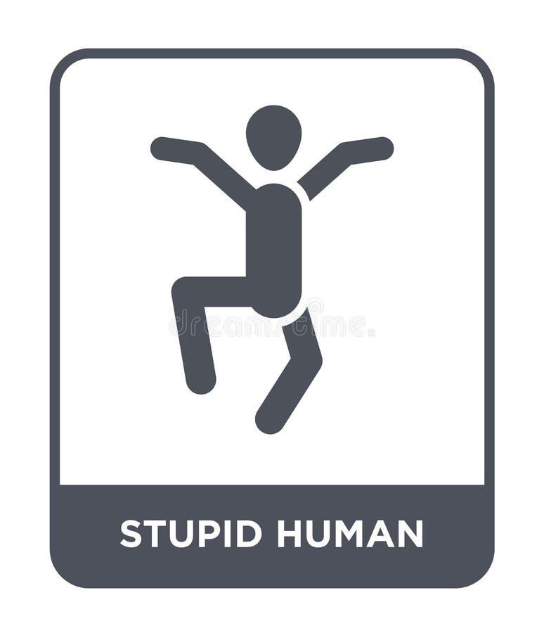 icono humano estúpido en estilo de moda del diseño icono humano estúpido aislado en el fondo blanco icono humano estúpido del vec libre illustration