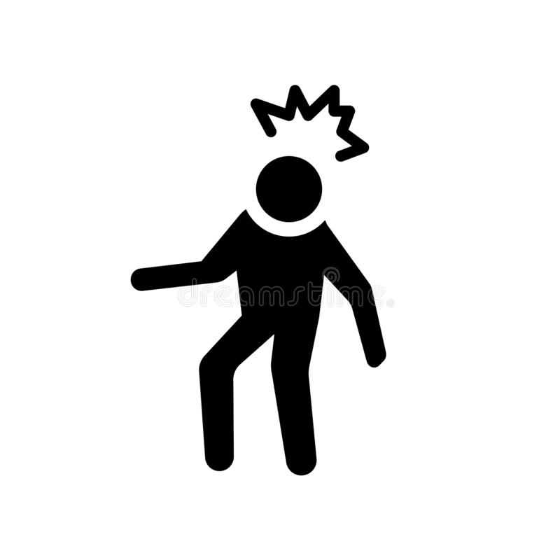 icono humano irritado Concepto humano irritado de moda del logotipo en whi libre illustration