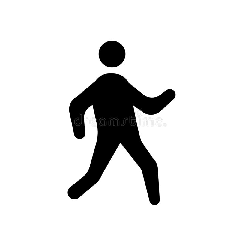 icono humano vivo Concepto humano vivo de moda del logotipo en el backg blanco libre illustration