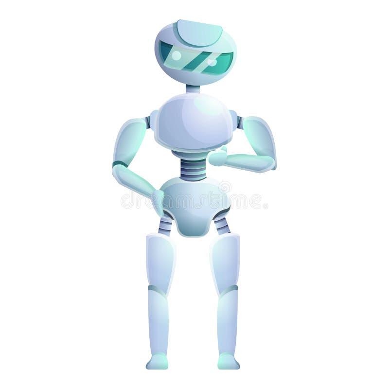 Icono humanoid artificial, estilo de la historieta ilustración del vector