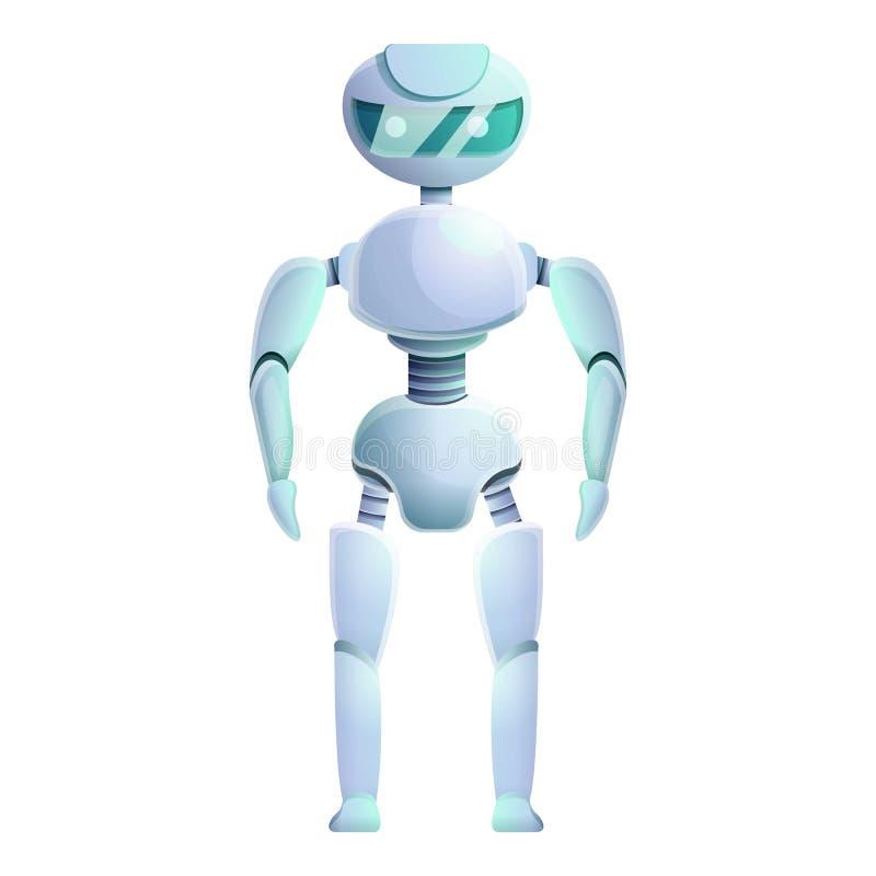 Icono humanoid biónico, estilo de la historieta ilustración del vector