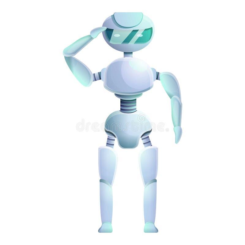 Icono humanoid del Ai, estilo de la historieta libre illustration